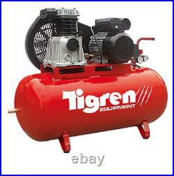 Tigren 150 Litre Electric Air Compressor 3hp Belt Drive Garage Workshop 230v 13a