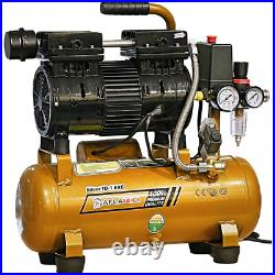 Whisper Silent compressor 10 Liter oil free Low noise 66dB Air compressor Clinic