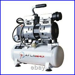 Whisper Silent compressor 10 Liter oil free Low noise 66dB Clinic Air compressor