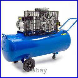 Wolf 150 Litre Air Compressor 3HP Twin Cylinder Pump Belt Driven & 13pc Kit