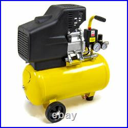 Wolf Air Compressor 24 Litre 2.5hp 8bar 9.6cfm 24L Ltr with 13pc Air Tool Kit