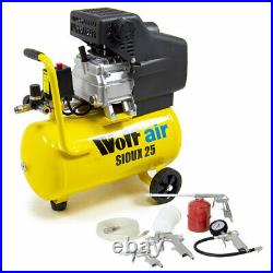 Wolf Air Compressor 24 Litre 2.5hp 8bar 9.6cfm 24L Ltr with 5pc Air Tool Kit