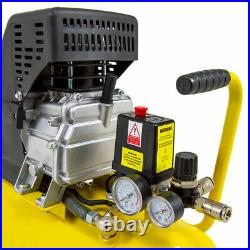 Wolf Air Compressor 24 Litre 2.5hp 8bar 9.6cfm 24L Ltr with Air Tools & Brush Kit
