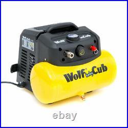 Wolf Air Compressor 6 Litre 1.5hp 8bar 116psi 6.3cfm Portable & Compact 6L Ltr